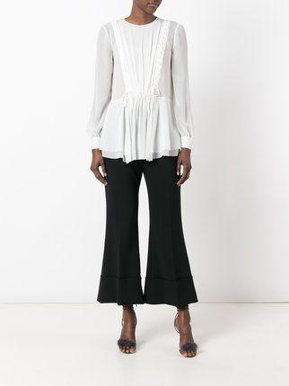 Alberta Ferretti прозрачная блузка с оборками