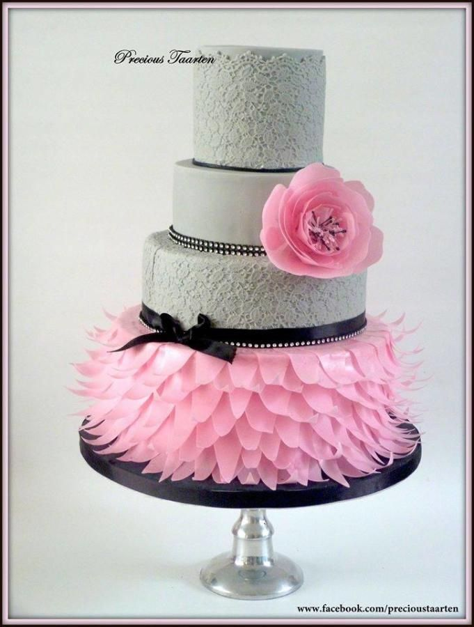 Inspired by Zoe Clark- wafer paper flower and skirt