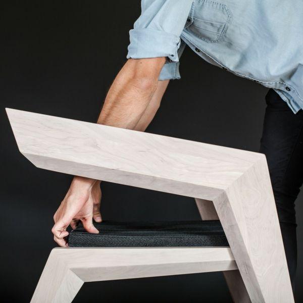 Avantgarde Holz Sessel Designs Originell Eingeartig Außergewöhnlich Auflage