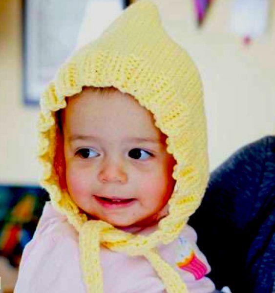 Mejores 296 imágenes de Baby Bonnets to Knit & Crochet en Pinterest ...