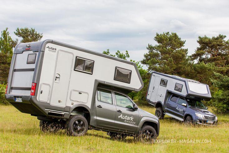 Alkoven-Kabinen auf Pickup-Fahrgestellen sind für Woelcke kein neues Terrain. Erstmals aber gibt es nun ein Serienmodell in der Autark-Reihe – auf der Abenteuer & Allrad präsentiert auf Hilux- und Amarok-Fahrgestellen. Der EXPLORER machte mit beiden eine Testfahrt