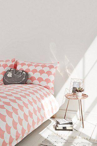 Parure de lit motif festons pêche