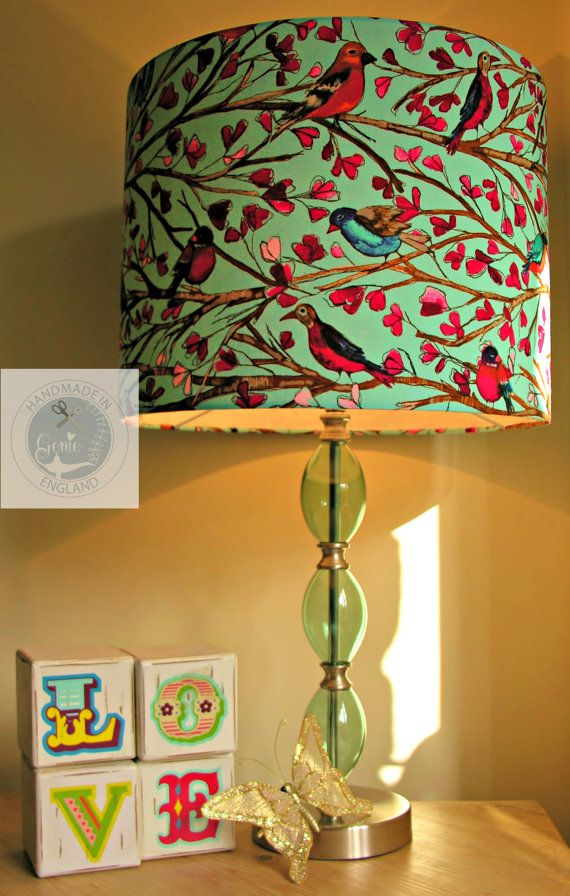 Bright  Birds Lampshade / Light Fitting FREE UK by GenieLampShades