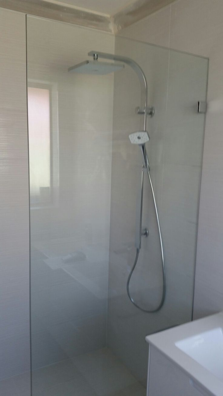 10mm #frameless #glass  #shower #panels by A Splash of Glass #perth. Www.asplashofglass.com.au