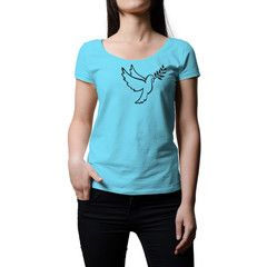 Peace T-Shirt - Peace is in the air. The soaring peace dove celebrates freedom in all its forms. This is a premium women's tee made of 100% cotton for durability and comfort. The print is sharp and robust.