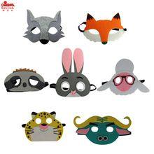 Meninos & Menina Assorted 7 Fox MÁSCARA máscaras de animais para presentes de Natal Coelho Leão Vaca bradypod máscara animal traje para crianças