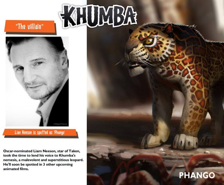 Liam Neeson As Phango In Khumba Khumba Pinterest