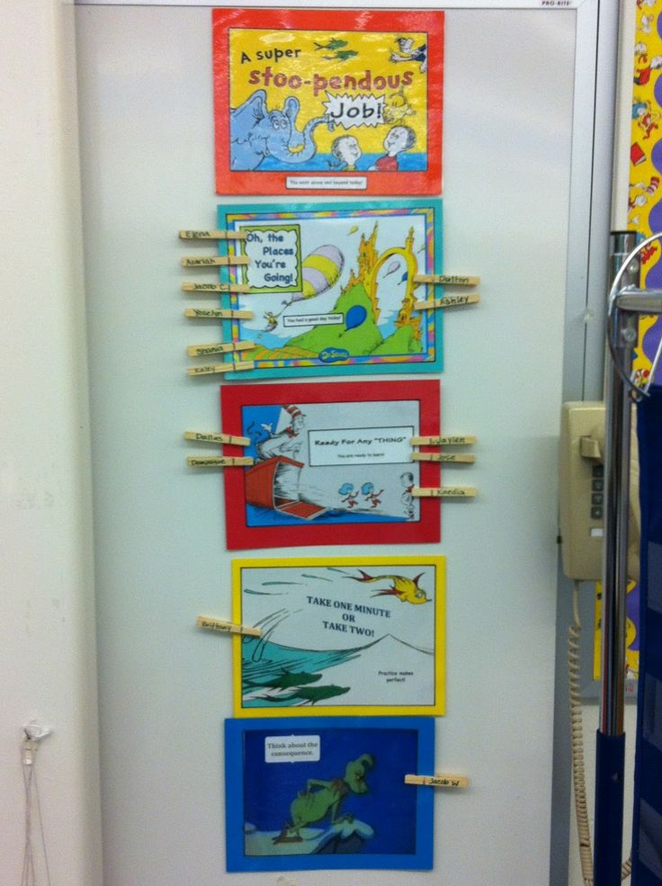 "dr. suesss classroom | How cute is this Dr. Seuss ""Positive Behavior Chart!"" I love it!"