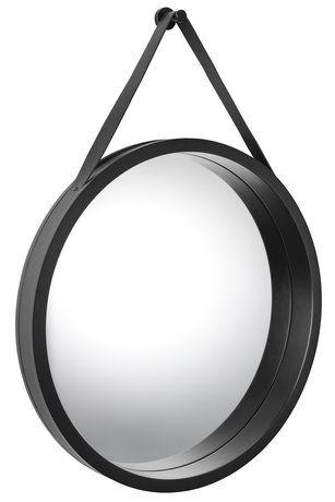 Spegel AIDT Ø50cm svart   JYSK