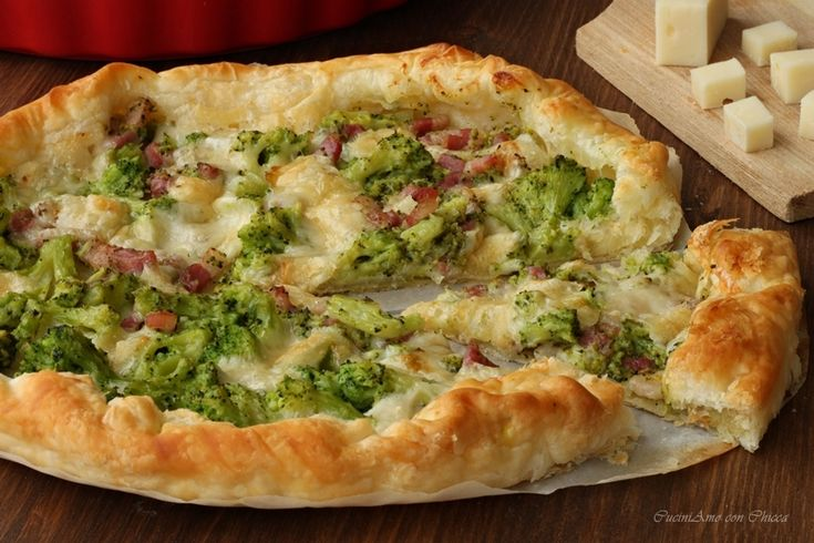 Sfoglia filante con broccoli e pancetta