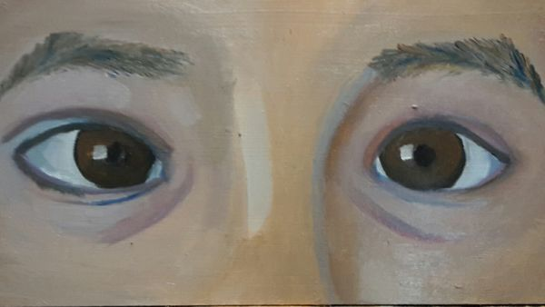 The eyes are the windows to the soul. Eyes Portrait Painting Close-up Backgrounds