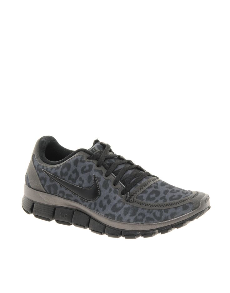 Nike Free Running 5.0 V4 Gray Leopard Performance Sneakers