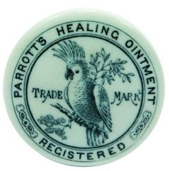 PARROTTS HEALING OINTMENT REGISTERED TRADE MARK CERAMIC LID