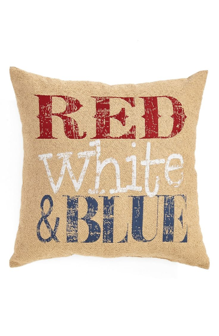 This rustic throw pillow will add such a cute patriotic touch to the décor at the 4th of July gathering.