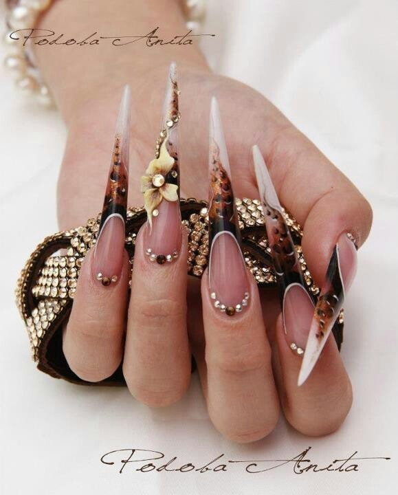 Long Stiletto Nail Art: 1212 Best Nailed To The Extreme ! Images On Pinterest