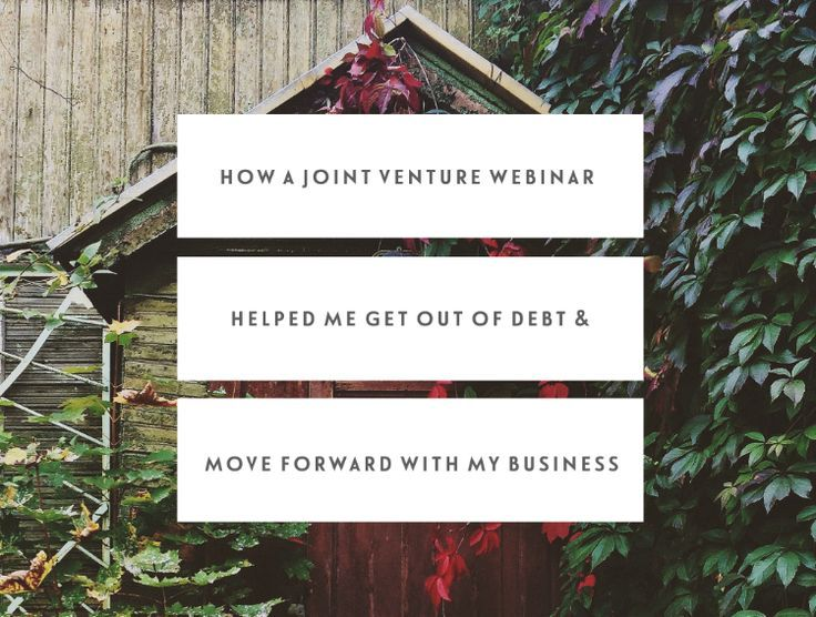 How A Joint Venture Webinar Helped Me Get Out Of Debt & Move Forward With My Business | Not sure a webinar can work for you? Check out Jen Carrington's experience with running a joint venture webinar.