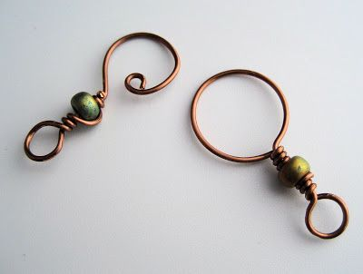 wire and bead clasp; these look like they may make nice stitch markers for knit or crochet too. :)
