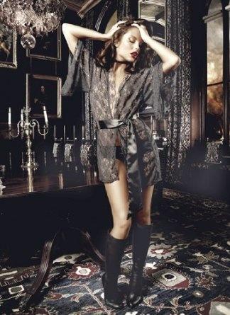 Black Lace Kimono Price: $60.10