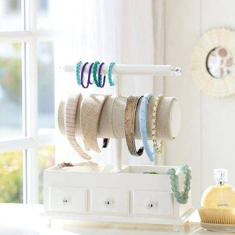 Come tenere in ordine cerchietti ed elastici per capelli  How to keep order headbands and hair elastics