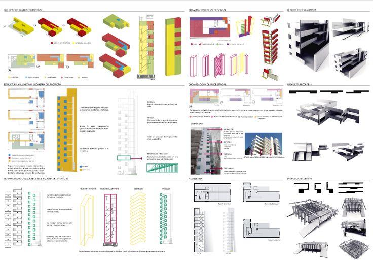 Análisis estructural/Tectónico-Espacial edificio Altamira - Rafael Iglesia / Propuestas Recortes_ Tectónica de Encastramiento / Espacio Cubierto, Semicubierto y Espacio Abierto