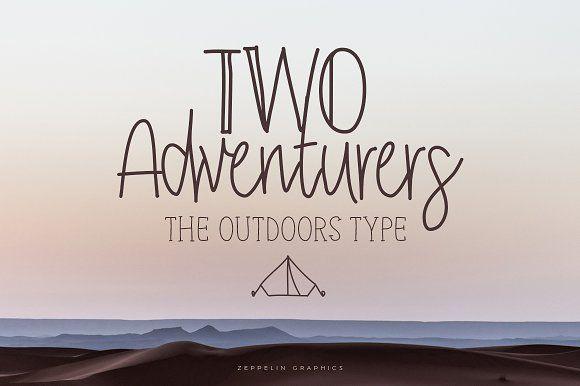Two Adventurers Font + Bonus by Zeppelin Graphics on @creativemarket