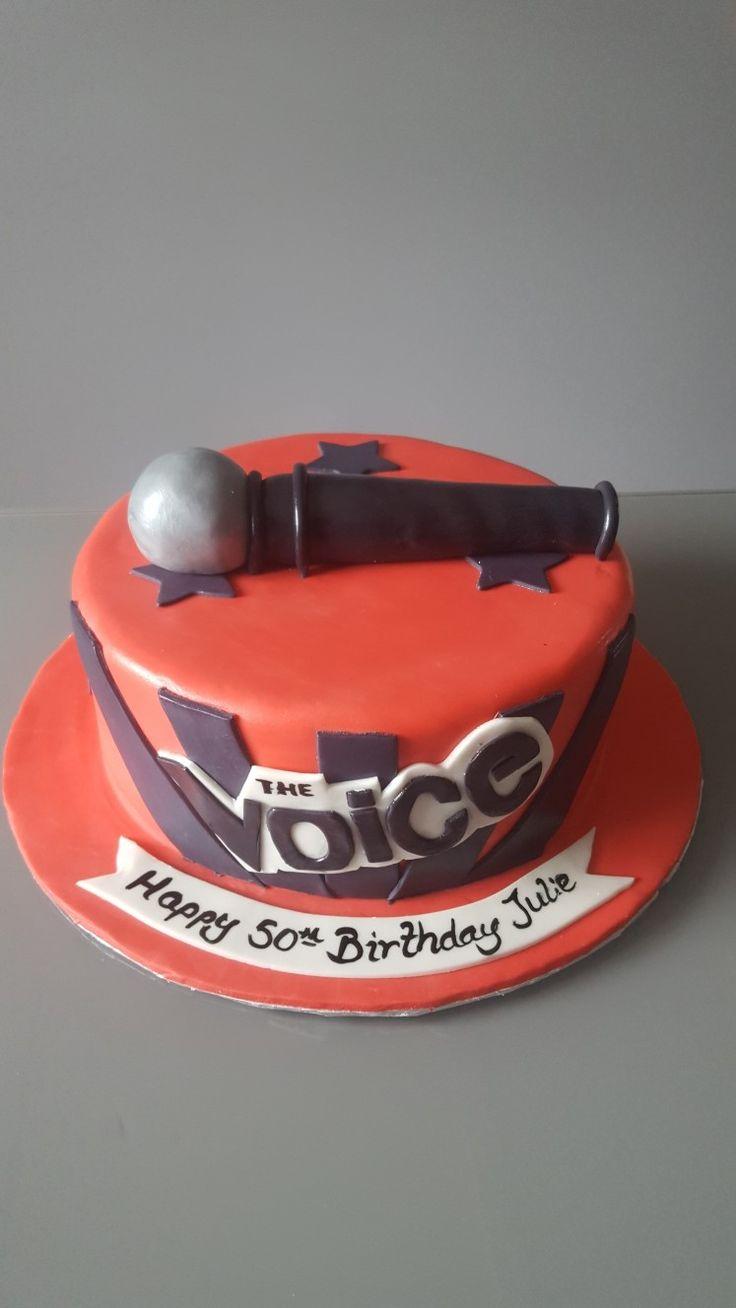The voice Birthday Cake