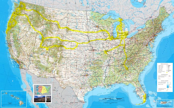 Us Map Travel Destinations | United States travel map scenic highways destinations photography