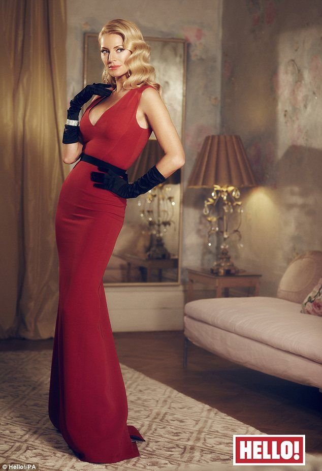 Tess Daly goes vintage