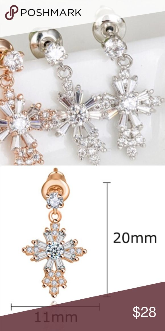 Silver Cross Earrings AAA CZ MaterialCubic Zirconia Metals TypeCopper Shape\patternCross FeatureEnvironmental Metal, Lead, Nickel, Cadmium free OccassionParty,Wedding,Birthday,Anniversary MainstoneTop Quality AAA CZ Condition100% Brand New Metal ColorSilver Plated Jewelry Earrings
