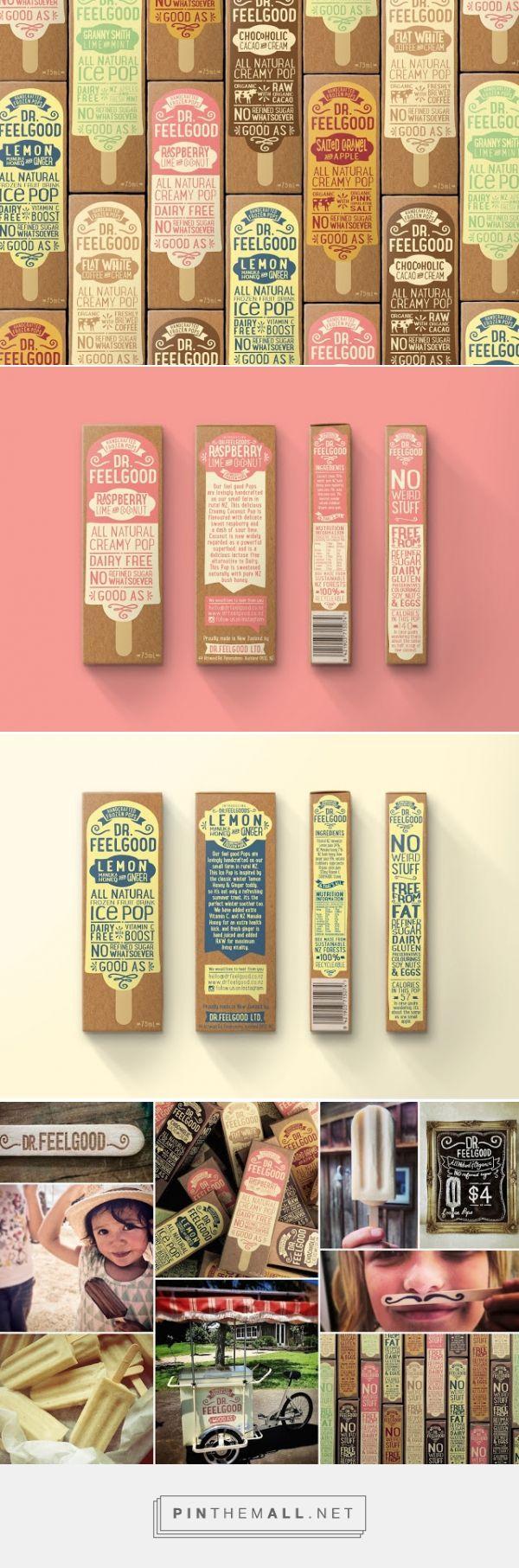Dr Feelgood #IcePops #packaging designed by Brandwagon - http://www.packagingoftheworld.com/2015/09/dr-feelgood-ice-pops.html