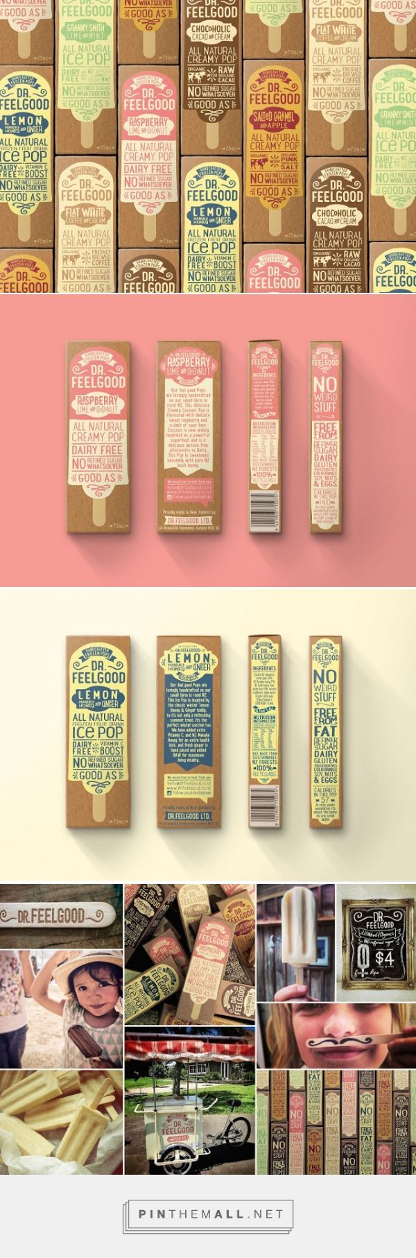 Dr Feelgood #IcePops #packaging designed by Brandwagon​ - http://www.packagingoftheworld.com/2015/09/dr-feelgood-ice-pops.html