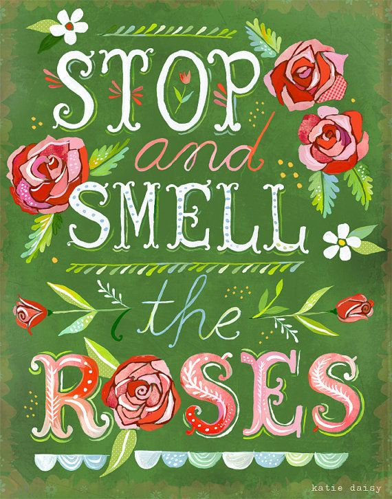 Stop And Smell The Roses  Vertical Print van thewheatfield op Etsy, $18.00