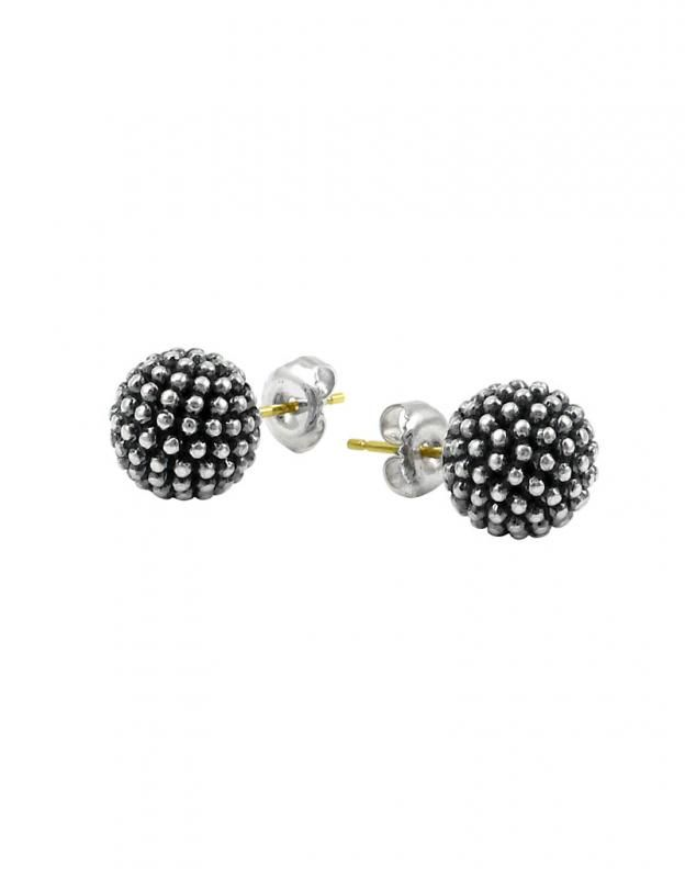 Lagos Jewelry Sterling Silver Caviar Beaded Stud Earrings
