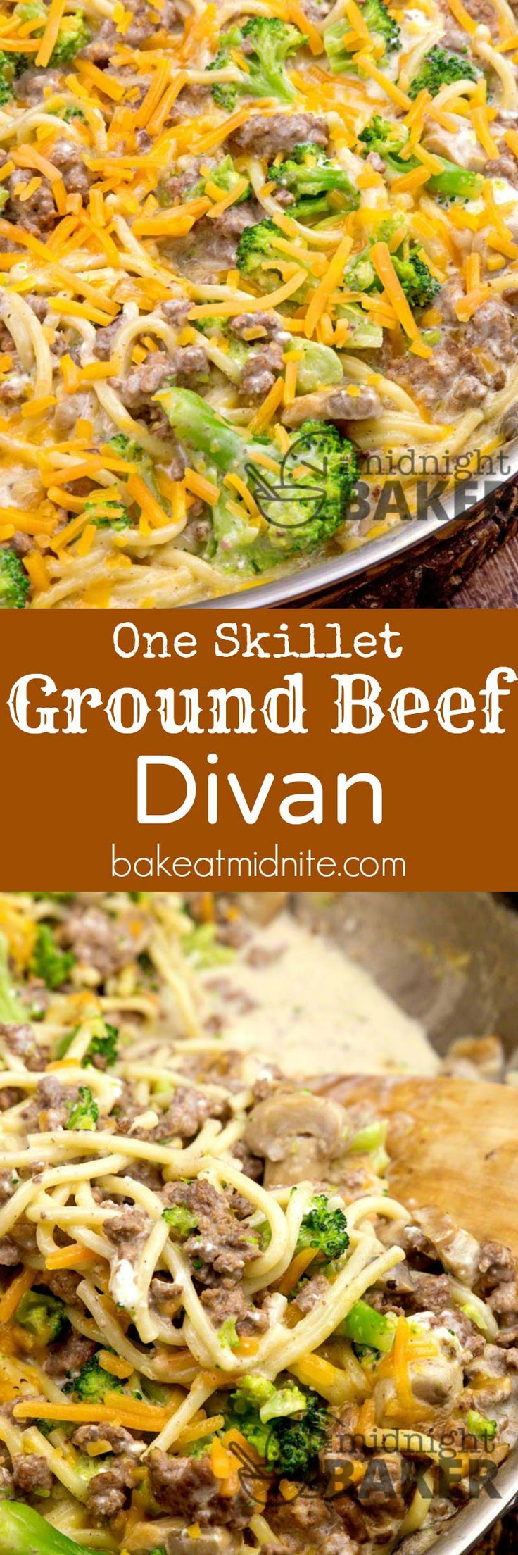 Inexpensive ground beef, one skillet and 30 minutes is all it takes for this great divan family dinner