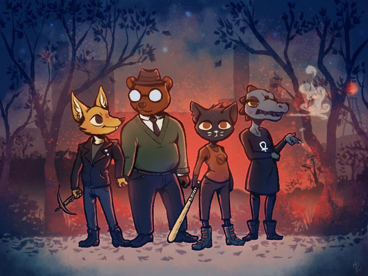 Night in the Woods by Firequill on DeviantArt