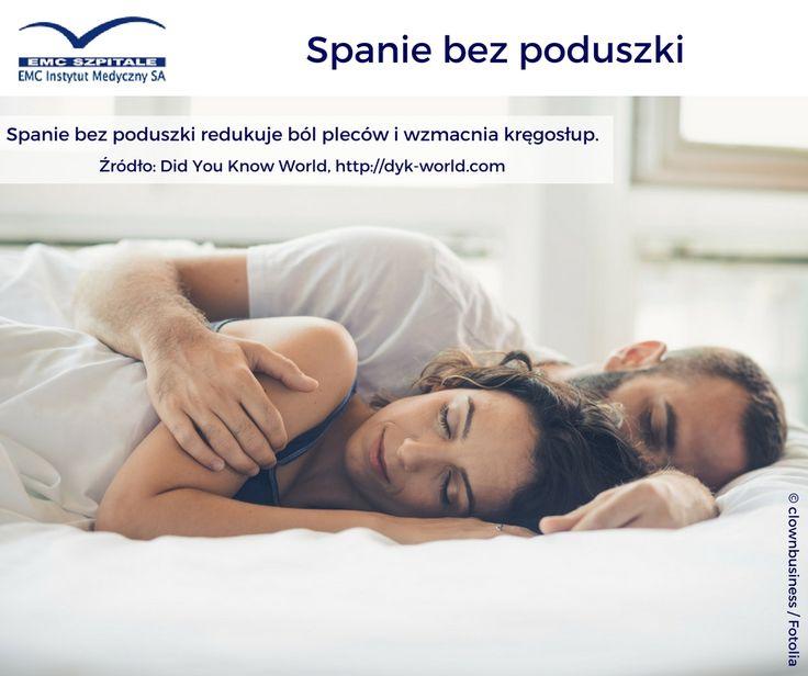 Spanie bez poduszki redukuje ból pleców i wzmacnia kręgosłup :) #emc #emcszpitale #zdrowie