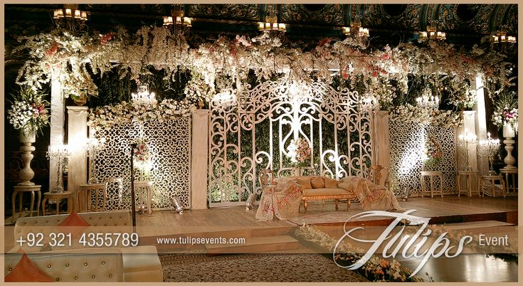 Fairy wedding gate stage