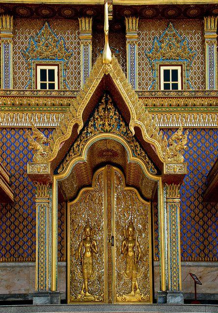 Temple doors. Thank, Uthai Thani, Thailand ~