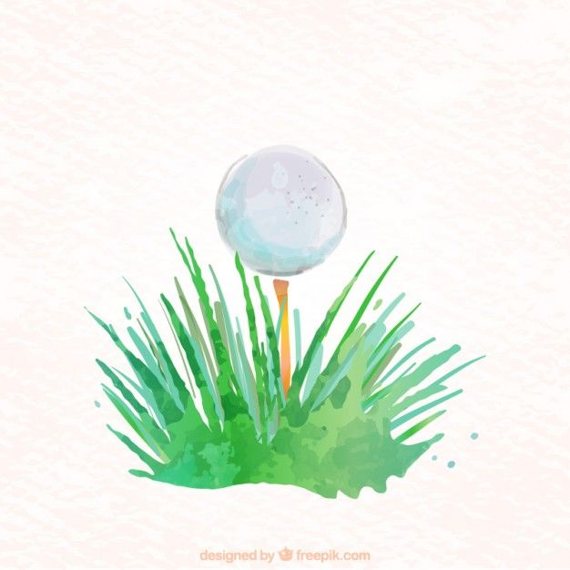 Watercolor golf ball