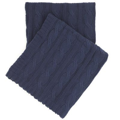 Comfy Cable Knit Throw by Pine Cone Hill Indigo - PC009ITH