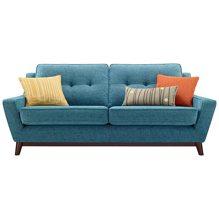 Superior Buy G Plan Vintage The Fifty Three Large Sofa, Fleck Blue Online At  JohnLewis.