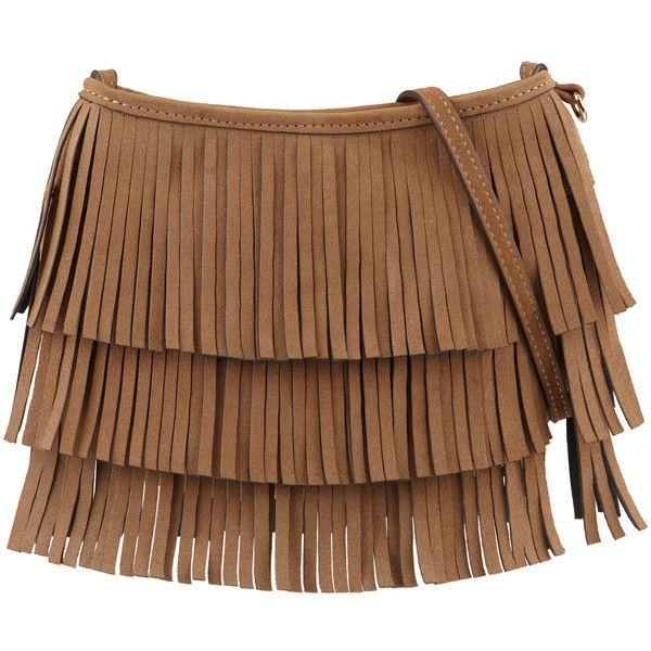 ALDO Agudo ($30) ❤ liked on Polyvore featuring bags, handbags, shoulder bags, cognac, fringe handbags, crossbody shoulder bag, aldo purses, brown crossbody purse and fringe shoulder bag