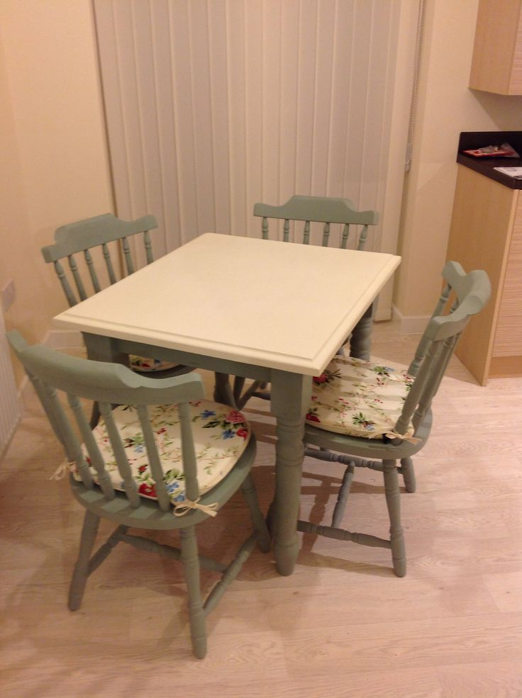 Upcycled an old pine table and chairs into a cream and  : 957ff9de14ec61adefe4941423156476 from www.pinterest.com size 736 x 985 jpeg 71kB