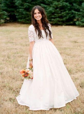 cute asWedding Dressses, Simple Modest Wedding Dresses, Dream Wedding Dresses, Beautiful, Brides, Lace Sleeves, Modest Boho Wedding Dress, Dreams Dresses, Future Wedding