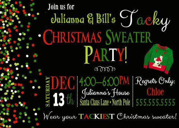 Tacky Christmas Sweater Invite Tacky Christmas Sweater by DaxyLuu