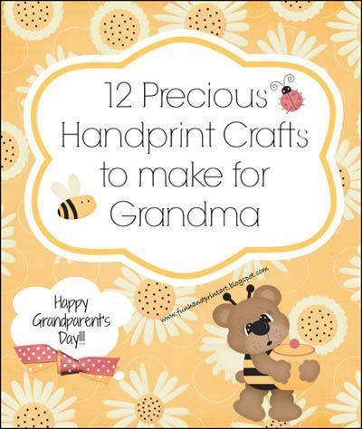12 Handprint Ideas to make Grandma for Grandparent's Day - Fun Handprint Art
