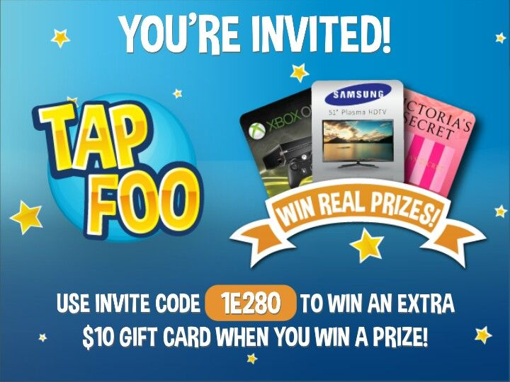 Free prizes app invitations itunes gift cards gift card