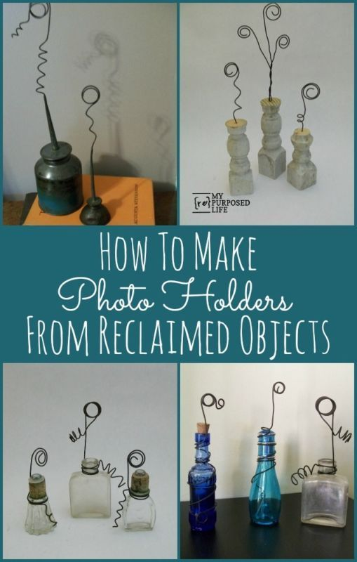 Looking for a new way to showcase your vintage family photos? Why not repurpose some vintage items and make new photo holders! The photos will feel and look right at home, and display as works of art in your home! Read on as eBay shows you how to make some pretty awesome photo holders from reclaimed items that you probably already own!