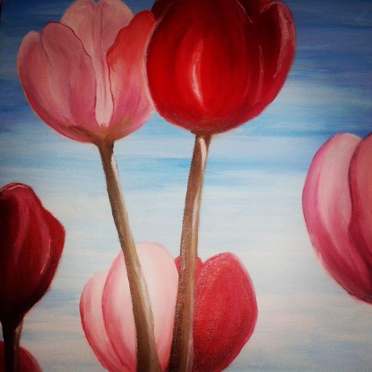 tulips - acrylic