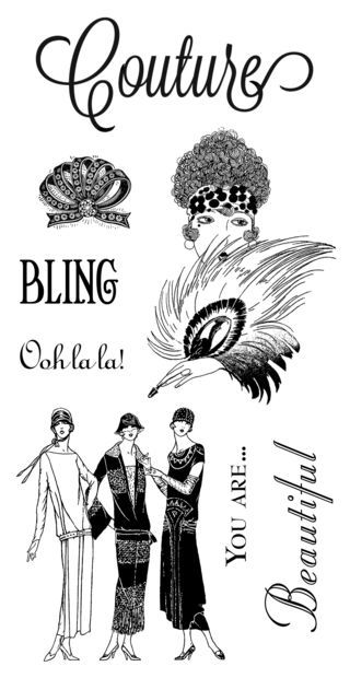 Cling stamps 1 from our new October 2013 Mid-Release Collection: Couture! #graphic45 #hamptonart